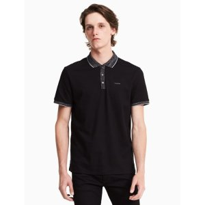 classic fit space-dyed interlock polo shirt | Calvin Klein