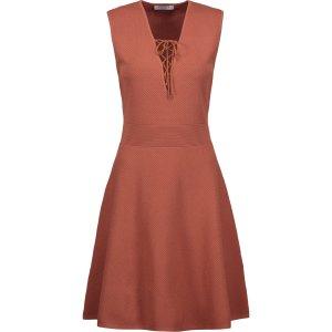 Rikka lace-up stretch-knit mini dress | Sandro | US | THE OUTNET
