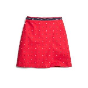 Girls' Red Cotton Poplin A-Line XO Skirt   Brooks Brothers