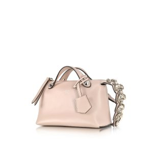 Fendi Soft Pastel Pink Leather Mini By The Way Boston Bag