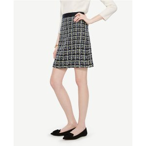 Plaid Tweed Skirt | Ann Taylor