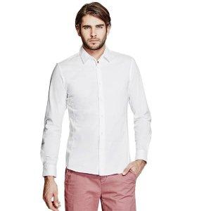 Damon Poplin Shirt | GuessFactory.com