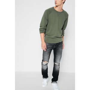 Cropped Paxtyn Skinny with Raw Flip Up Hem in Blowout