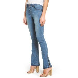 Wit & Wisdom Ab-solution Split Release Hem Jeans (Regular & Petite) (Nordstrom Exclusive)   Nordstrom