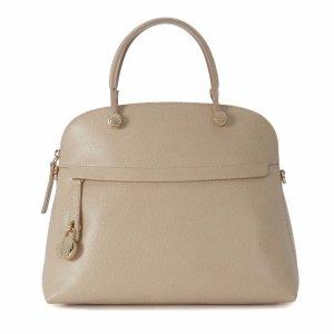 Furla - Furla Piper Maple Leather Hand Bag - 868983-ACERO, Women's Totes | Italist