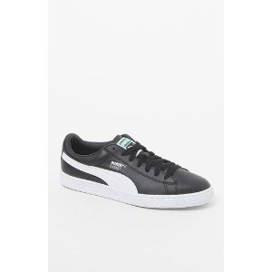 Puma Basket Classic Leather Black and White Shoes at PacSun.com