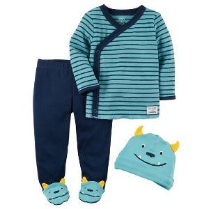 Baby Boy 3-Piece Babysoft Footed Pant Set | Carters.com
