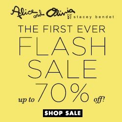 Up to 70% Off First Ever Flash Sale @ Alice + Olivia