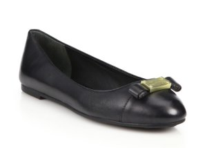 $99.99Marc Jacobs Tuxedo Leather Logo Ballet Flats