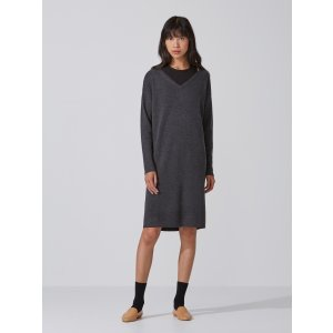 Machine-Washable Merino Sweater Dress in Carbon