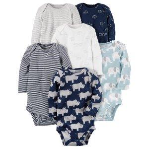 6-Pack Long-Sleeve Original Bodysuits