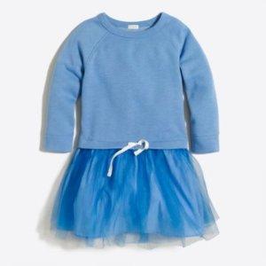 Girls' sweatshirt tulle dress : FactoryGirls Dresses   Factory