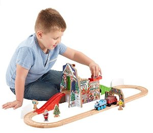 $23.27 Fisher-Price Thomas the Train Wooden Railway Santa's Workshop Express