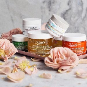 15% Off + a Limited Edition packetteWith Face Masks Purchase @ Kiehl's