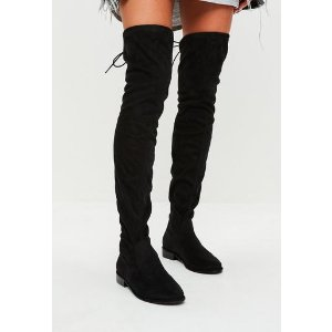 Missguided - Black Over The Knee Boots