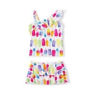 Girls Skirted Tankini Swimsuit Set from Lands' End