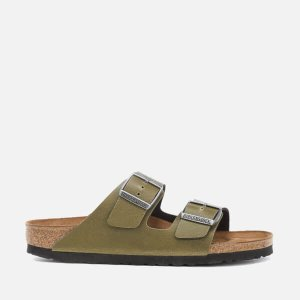 Birkenstock Women's Arizona Slim Fit Pull Up Double Strap Sandals - Olive