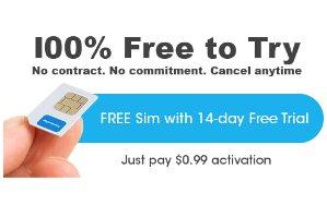 $0.99FreedomPop GSM 4G LTE SIM Kit