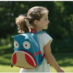 Skip Hop Zoo Toddler Kids Insulated Backpack Otis Owl, 12 inches, Blue