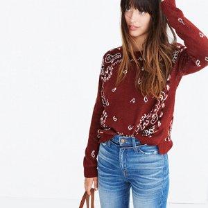 Bandana Pullover Sweater