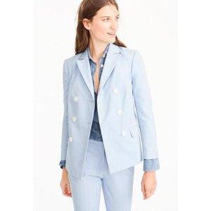 Double-breasted blazer in Italian cotton