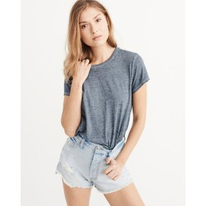 Womens Burnout Boxy Tee | Womens Tops Sale | Abercrombie.com