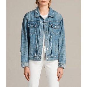 ALLSAINTS US: Womens Ina Denim Jacket (Indigo Blue)