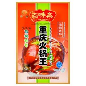 百味斋 重庆火锅王浓缩底料 麻辣鲜香味 200g