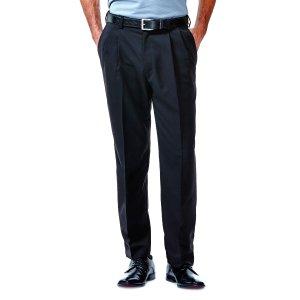 Cool 18 Pant | Classic Fit, Pleat, No Iron | Haggar.com