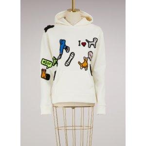 MICHAELA BUERGER - I love my dog Hooded sweatshirt