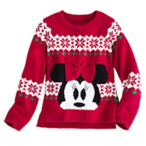 Minnie Mouse Holiday Sweater for Girls | Disney Store