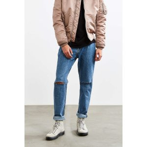 BDG Slim Knee Slash Stonewash Slim Jean | Urban Outfitters