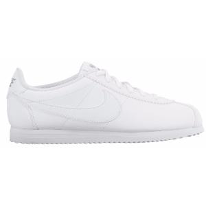 Nike Cortez - Girls' Grade School - Running - Shoes - White/White/Wolf Grey