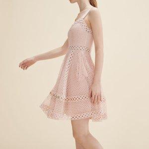 RAVI Embroidered strappy dress - Dresses - Maje.com