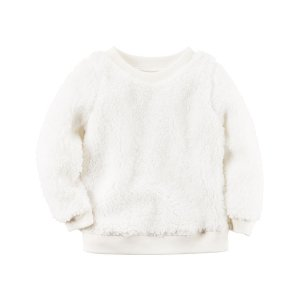 Toddler Girl Sherpa Crew-Neck Pullover | Carters.com
