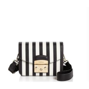 Furla Metropolis Stripe Mini Leather Crossbody | Bloomingdale's