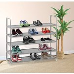 Halter 5 Tier Stainless Steel Shoe Rack / Shoe Storage Stackable Shelves