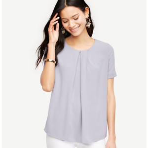 Pleated Mixed Media Top | Ann Taylor