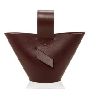 Amphora Leather Top Handle by Carolina Santo Domingo