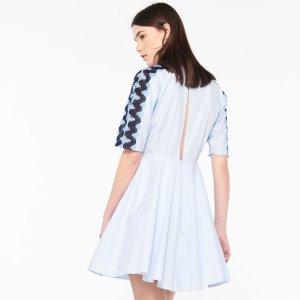 Pleated Dress With Lace Trim - Dresses - Sandro-paris.com