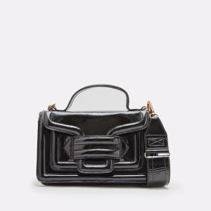 Alpha Plus Patent Leather Handbag