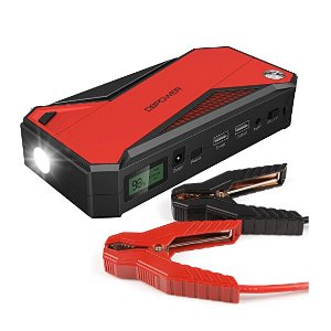DBPOWER 600A Peak 18000mAh Portable Car Jump Starter+Battery Booster and Phone Charger