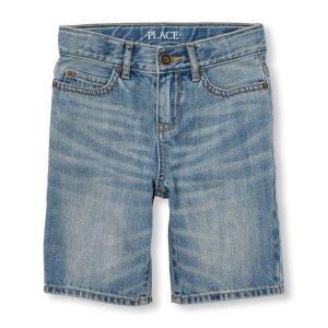 Boys Five-Pocket Denim Shorts - Light Wave Wash | The Children's Place