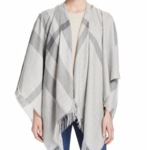 Burberry Cashmere Mega Check Cape
