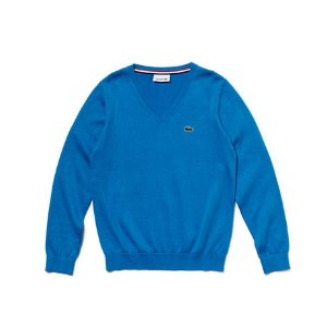 Boy's V-Neck Cotton Sweater | LACOSTE