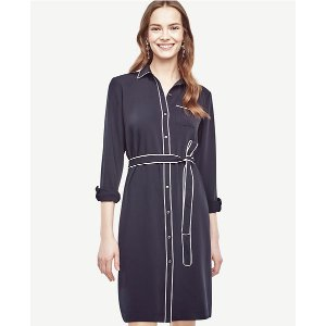 Piped Shirtdress | Ann Taylor