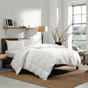 Eddie Bauer 700 Fill Power White Goose Down Damask Cotton Lightweight Oversized Comforter | Overstock.com Shopping - The Best Deals on Down Comforters