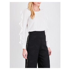 MAJE - Frilled long-sleeved top