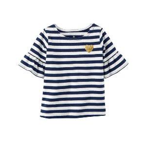 Bell-Sleeve Striped Shirt