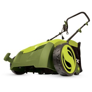 Sun Joe 13 in. 12 Amp Electric Scarifier + Lawn Dethatcher with Collection Bag-AJ801E - The Home Depot